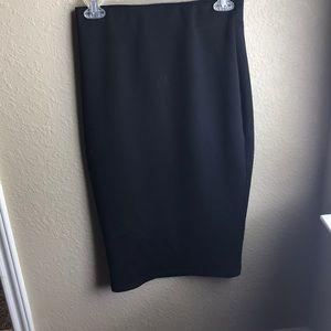 Black pencil skirt.